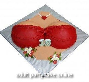 Boobs covered with Red Bra erect nipples visible outside bra bachelor Adam's Cake for adult boys