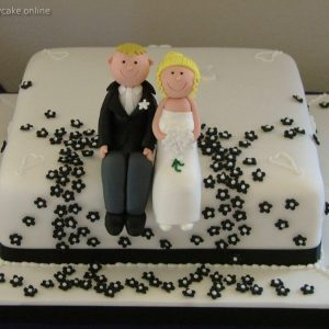 Naughty Couple Cake for the duo on Bed playing
