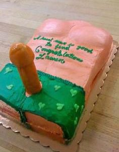 Dick Lovers Fellatio Cake for Party Females