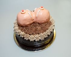 Bachelor Party Big Breast Cake Image